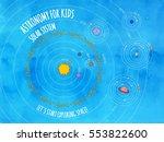 illustration of solar system... | Shutterstock .eps vector #553822600