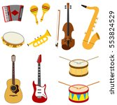 musical instruments  accordion  ... | Shutterstock .eps vector #553824529