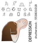 depression icon  watches  icons ... | Shutterstock .eps vector #553831018