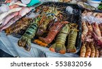 fresh lobster put to sale in... | Shutterstock . vector #553832056