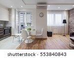 interior of a new modern... | Shutterstock . vector #553840843