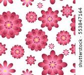 pink flowers seamless....   Shutterstock .eps vector #553847164