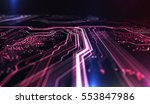 technology background red and... | Shutterstock . vector #553847986