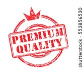 rubber stamp premium quality... | Shutterstock .eps vector #553856530