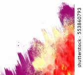 abstract watercolor background. ... | Shutterstock . vector #553860793