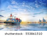 logistics and transportation of ... | Shutterstock . vector #553861510