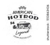 classic hot rod typography logo ... | Shutterstock .eps vector #553863436