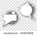 comic speech bubbles with... | Shutterstock .eps vector #553870048