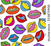 seamless vector pattern with... | Shutterstock .eps vector #553870900