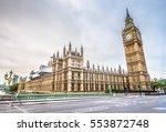 big ben in london hdr | Shutterstock . vector #553872748
