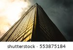 a bottom point of view of a... | Shutterstock . vector #553875184