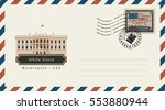 an envelope with a postage... | Shutterstock .eps vector #553880944