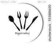 cutlery vector icon | Shutterstock .eps vector #553888630