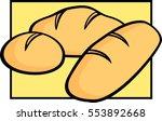 bread pieces | Shutterstock .eps vector #553892668