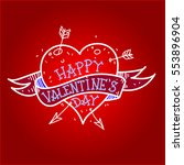 heart. vector illustration. | Shutterstock .eps vector #553896904