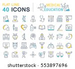 set vector line icons  sign and ... | Shutterstock .eps vector #553897696