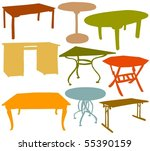 set of a various table | Shutterstock .eps vector #55390159