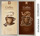 the creative set menu for hot... | Shutterstock .eps vector #553902559