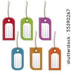 set of colored name tags or... | Shutterstock .eps vector #55390267