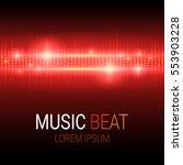 music beat. red lights... | Shutterstock .eps vector #553903228