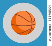 basketball ball icon. colorful... | Shutterstock .eps vector #553905004