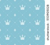 seamless pattern in retro style ... | Shutterstock .eps vector #553905028
