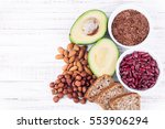healthy eating products for... | Shutterstock . vector #553906294