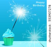 invitation to the birthday... | Shutterstock .eps vector #553907278