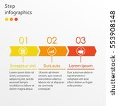 step by step infographics... | Shutterstock .eps vector #553908148