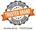 trusted brand. stamp. sticker.... | Shutterstock .eps vector #553912666