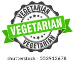 vegetarian. stamp. sticker.... | Shutterstock .eps vector #553912678