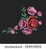 vintage patch embroidery... | Shutterstock .eps vector #553919053
