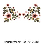 vintage patch embroidery flowers | Shutterstock .eps vector #553919080