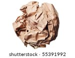 Crumpled Paper Ball Isolated On ...