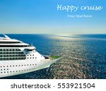 cruise ship in open water side... | Shutterstock . vector #553921504