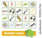 memory game for preschool... | Shutterstock .eps vector #553921744