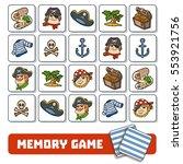 memory game for preschool... | Shutterstock .eps vector #553921756