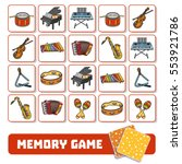 memory game for preschool... | Shutterstock .eps vector #553921786