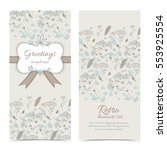 retro greeting vertical banners ... | Shutterstock .eps vector #553925554