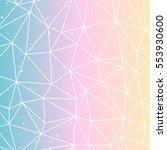 geometric polygonal gradient...   Shutterstock .eps vector #553930600