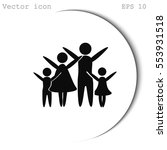 family vector icon | Shutterstock .eps vector #553931518