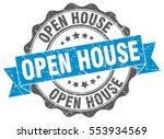 Open House. Stamp. Sticker....
