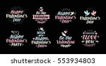 valentines day illustrations... | Shutterstock .eps vector #553934803