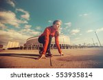 woman ready to run.preparing to ...   Shutterstock . vector #553935814