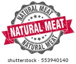 natural meat. stamp. sticker.... | Shutterstock .eps vector #553940140