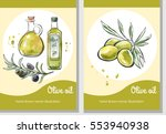 vector set of flier templates... | Shutterstock .eps vector #553940938