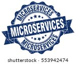 microservices. stamp. sticker.... | Shutterstock .eps vector #553942474