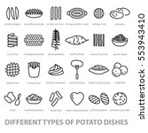 different types of potato dishes   Shutterstock .eps vector #553943410