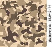seamless camouflage pattern.... | Shutterstock .eps vector #553943479
