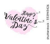 happy valentines day card with...   Shutterstock .eps vector #553945426